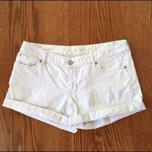 Express denim shorts in white size 10